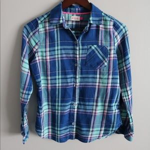 SO- Tween size 14 Plaid Shirt